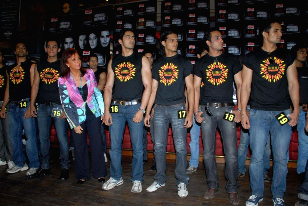 Contestants of Gladrags at Press Meet.