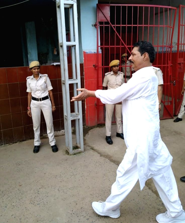 Controversial Bihar MLA Anant Singh arrives at Beur Jail after a Barh court remanded him to judicial custody for two weeks in connection with the Unlawful Activities (Prevention) Act (UAPA) ... - Anant Singh