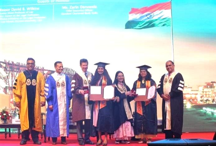 Convocation ceremony of O.P. Jindal Global University (JGU) underway at the Indira Gandhi Stadium on Aug 8, 2019. - Indira Gandhi Stadium