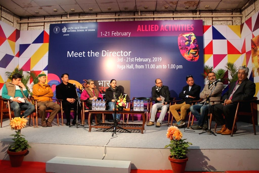 Coordinator- Rohit Tripathi, Yoga Teacher NSD-  Lokendra Trivedi, Director of The Dumb Waiter- Thawai Thiyam,Theatre critics Ms. Amba Sanyal, Coordinator- Neetu Vaid, Theatre critic Mr. ... - Rohit Tripathi, Shivkesh Mishra and Bapi Bose