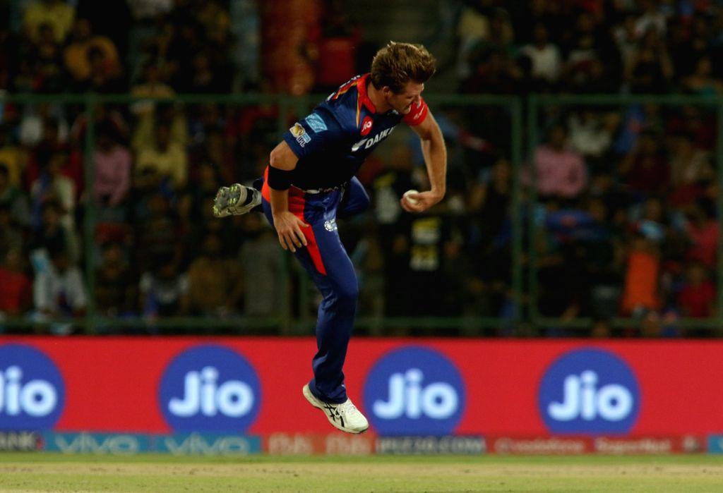 Corey Anderson of Delhi Daredevils in action during an IPL 2017 match between Delhi Daredevils and Royal Challengers Bangalore at Feroz Shah Kotla Ground in New Delhi on May 14, 2017.