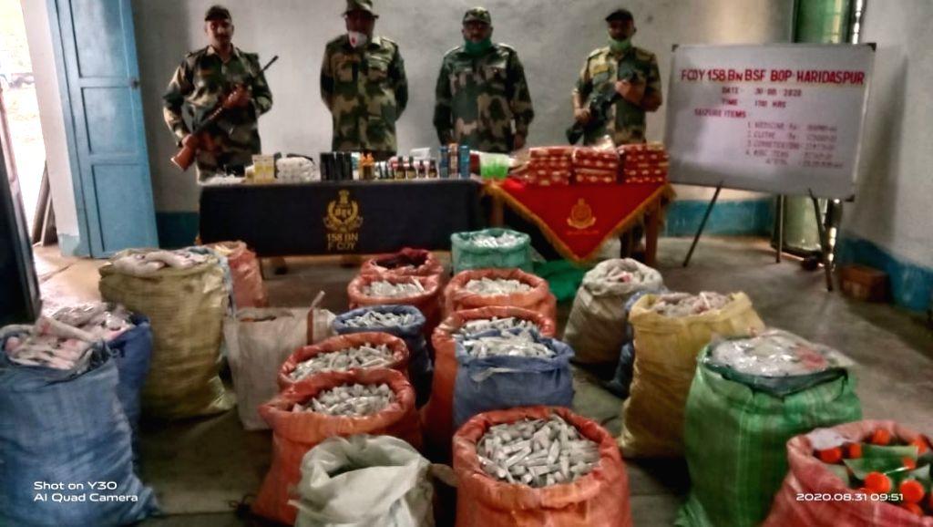 Cosmetics, medicines worth Rs 23L seized at B'desh border