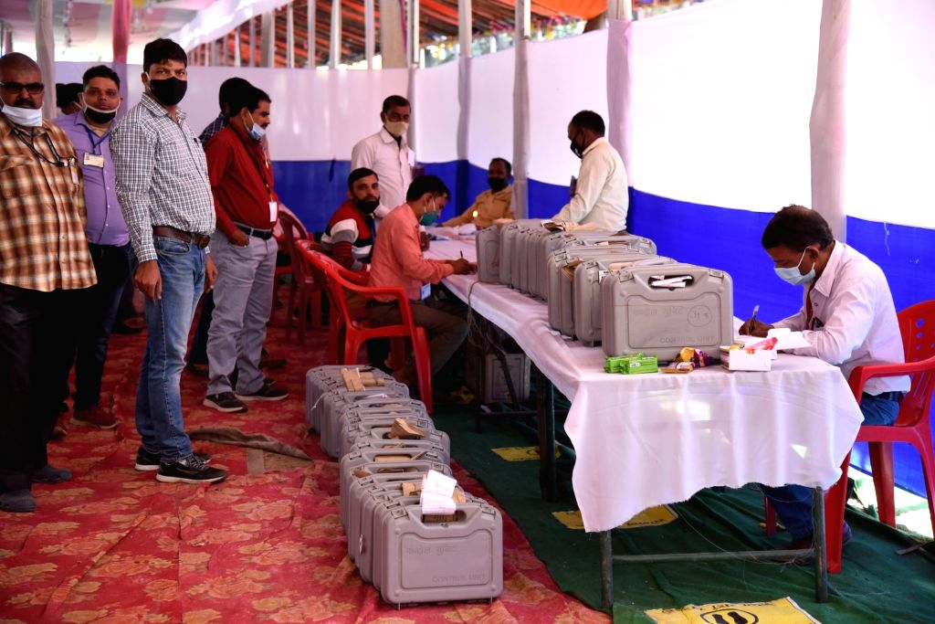 Counting of votes for Odisha's Pipili Assembly bypoll begins.
