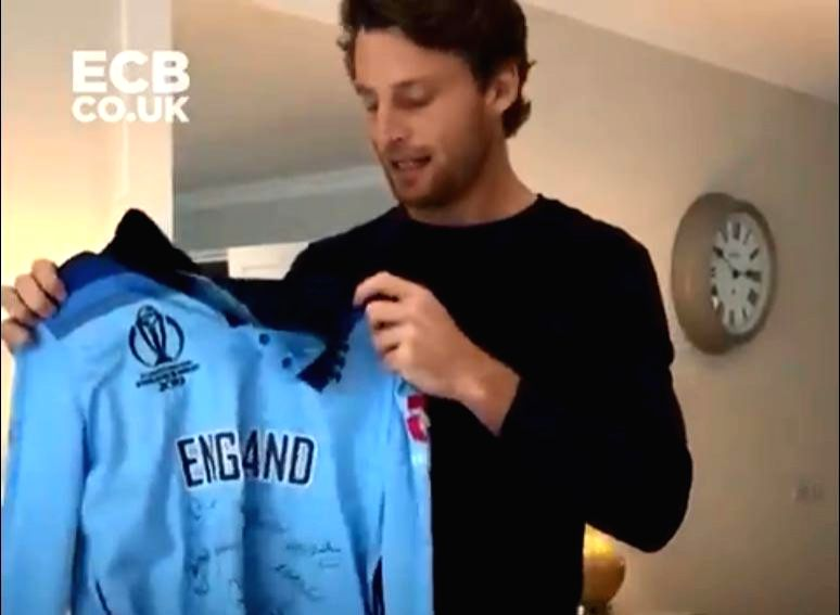COVID-19: Buttler to auction WC final shirt to raise funds. (photo credit: ECBCO.UK)