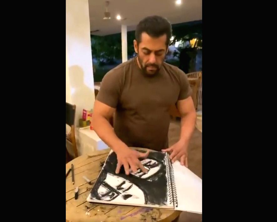 COVID-19 effect: Salman Khan sketches and hums 'Kaho Na Pyaar Hai'. - Salman Khan