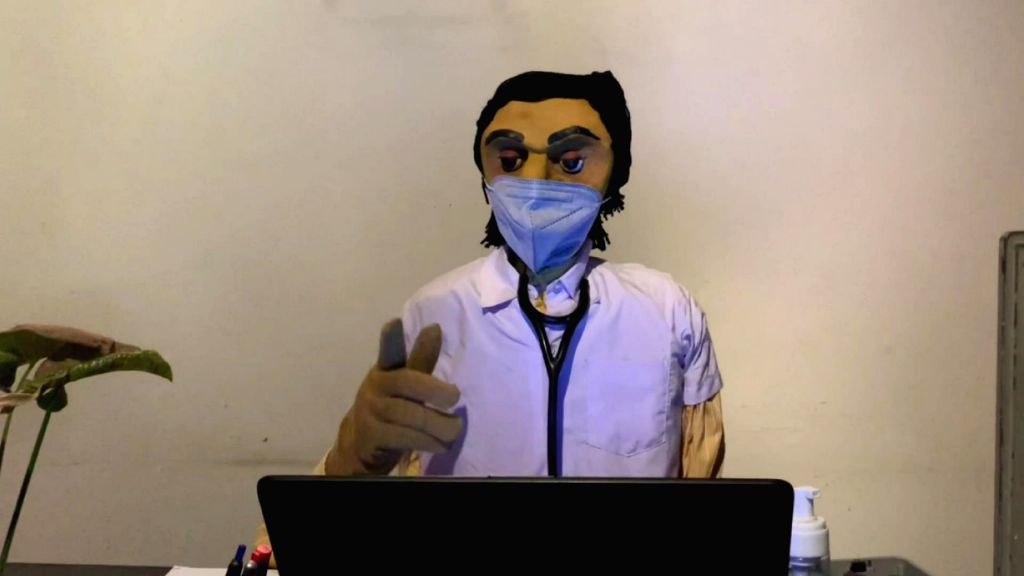 Covid awareness campaign through puppetry in NE India.