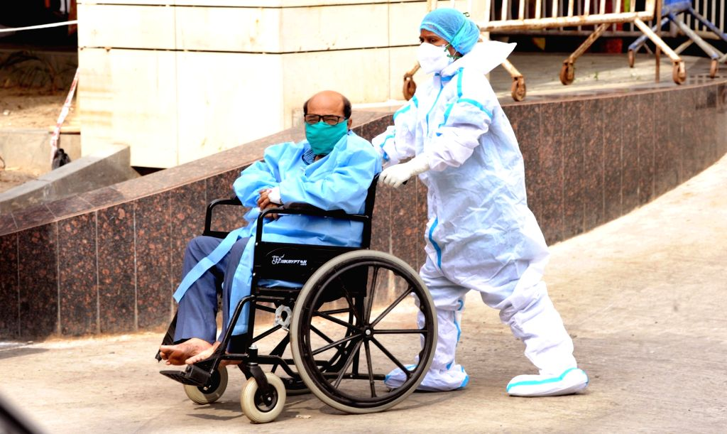 Covid patients at Kolkata Medical College hospital during the increasing numbers of COVID 19 patients in Kolkata on April 23, 2021.