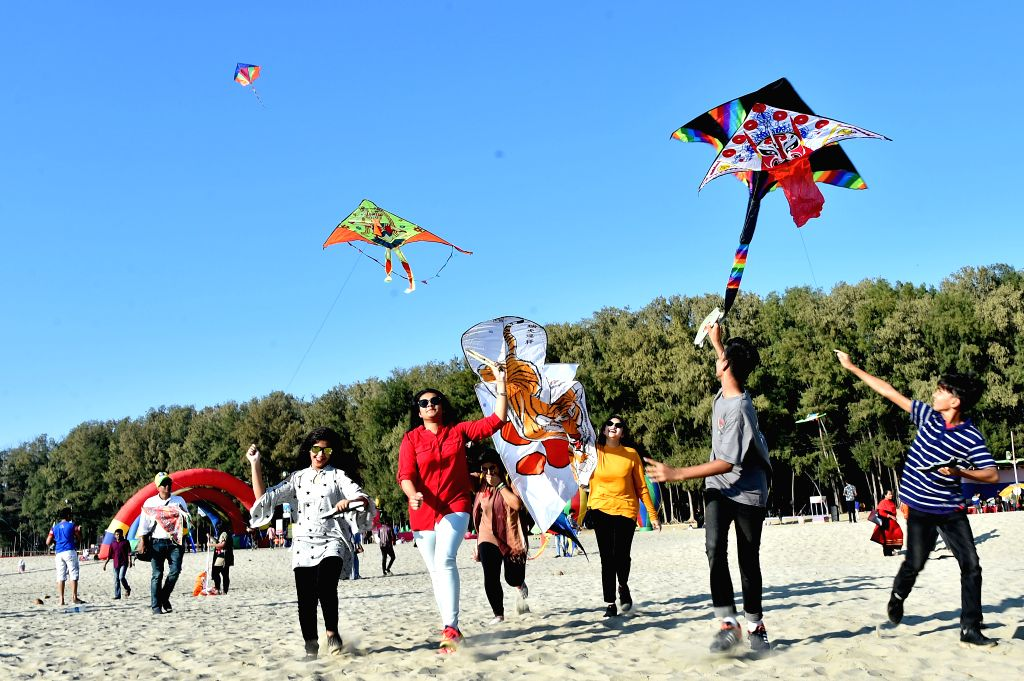 COX'People fly kites during a two-day kite festival kicked off in Cox's Bazar in southeastern Bangladesh on Feb. 1, 2019.