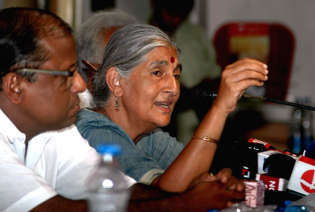 CPI-M candidate for 2014 Lok Sabha Election from Barrackpore, Subhashini Ali during a press conference in Kolkata on May 2, 2014.