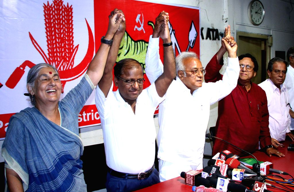 CPI-M candidates for 2014 Lok Sabha Election from Barrackpore, Bongaon, Dumdum, Barasat and Basirhat parliamentary seats, Subhashini Ali, Dr. Debesh Das, Dr. Asim Dasgupta, Dr. Mortaza Hossain and ...