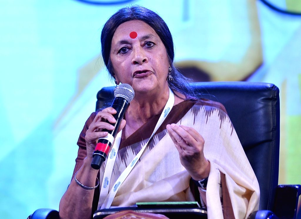 CPI-M leader Brinda Karat addresses during the two-day long seminar 'Conversations of the Constitution' organised by Karnataka Government in Bengaluru, on Jan 22, 2019.