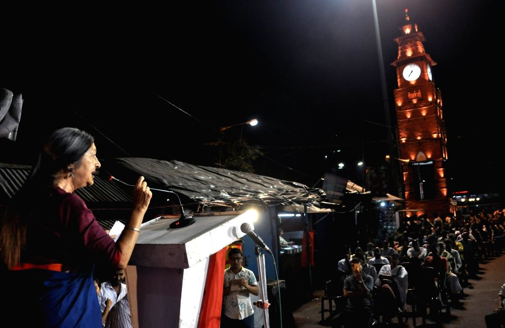CPI-M leader Brinda Karat during a party rally in Kolkata on May 11, 2019.