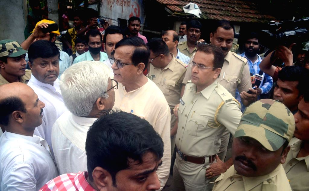 CPI-M leader Mohammed Salim after being detained police for marching towards riot-hit Baduria in West Bengal's North 24 Parganas district; in Barasat near Kolkata on July 7, 2017.