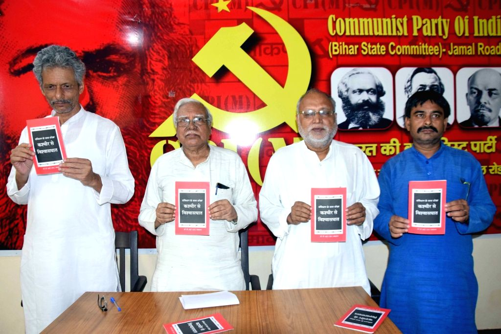 CPI-M politburo member Hannan Mollah during a press conference in Patna on Sep 6, 2019.