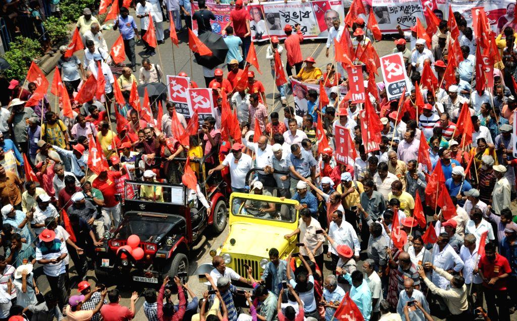 CPI-M's Lok Sabha candidates from West Bengal - Fuad Halim (Diamon Harbour), Subhas Naskar (Jaynagar), Bikas Ranjan Bhattacharya (Jadavpur),  Sarat Chandra Halder (Mathurapur) and Nandini ... - Nandini Mukherjee
