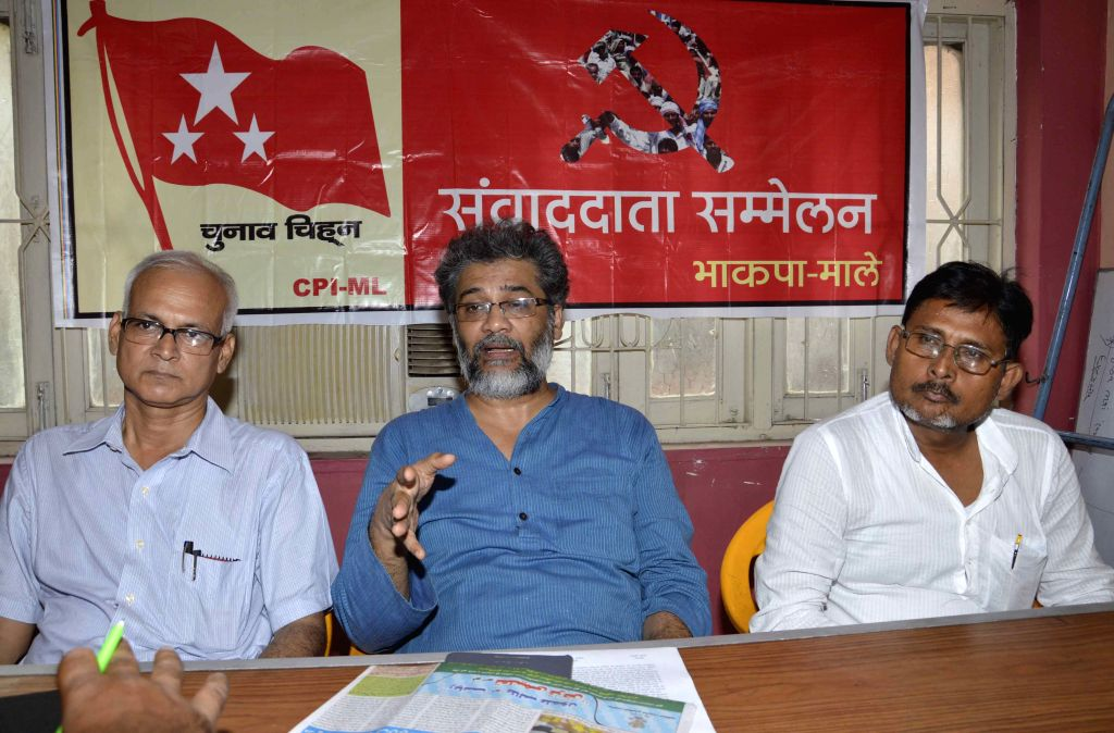 CPI(ML)-Liberation General Secretary Dipankar Bhattacharya during a press conference in Patna, on Aug 8, 2015.