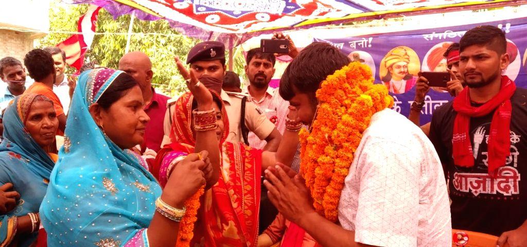 CPI's Lok Sabha candidate from Begusarai, Kanhaiya Kumar during a public rally, in Bihar's Begusarai on April 26, 2019. - Kanhaiya Kumar