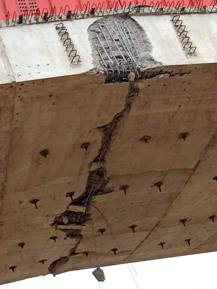 Crack emerges in under-construction flyover on Dwarka Expressway.