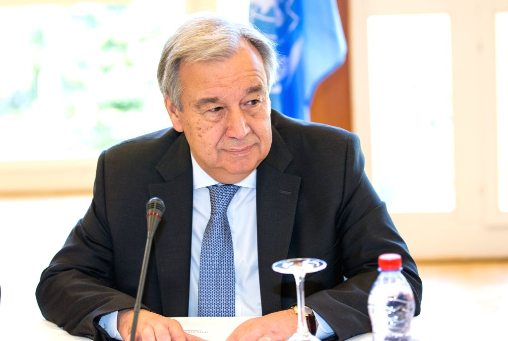 CRANS-MONTANA (SWITZERLAND), July 6, 2017 UN Secretary-General Antonio Guterres takes part in a new round of the Conference on Cyprus under the auspices of the United Nations in ...