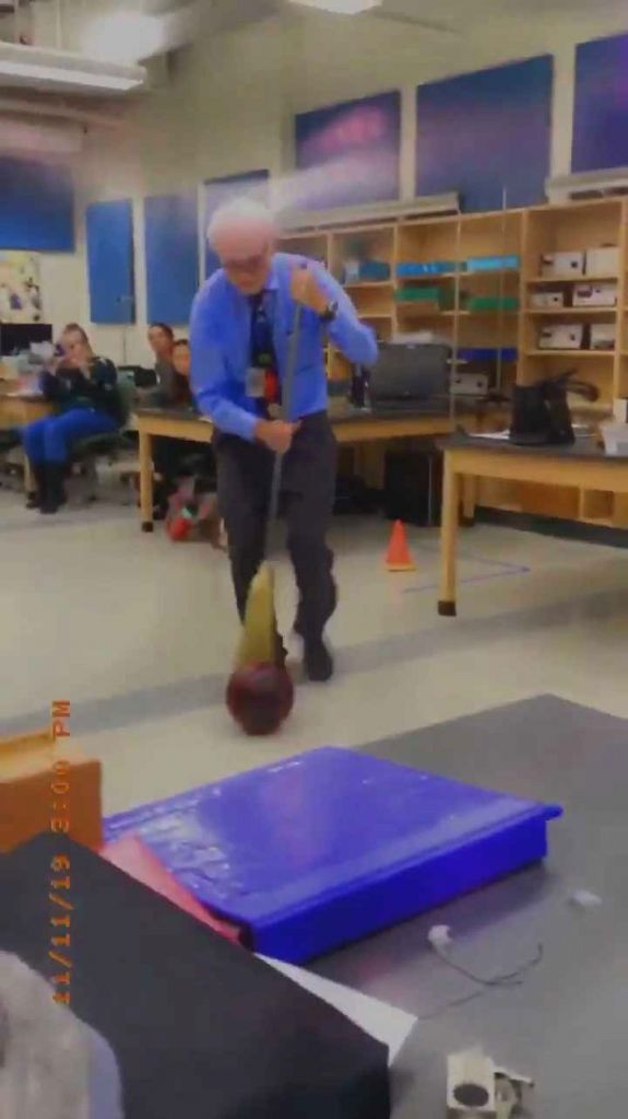 Crazy things Physics Professor did for students.