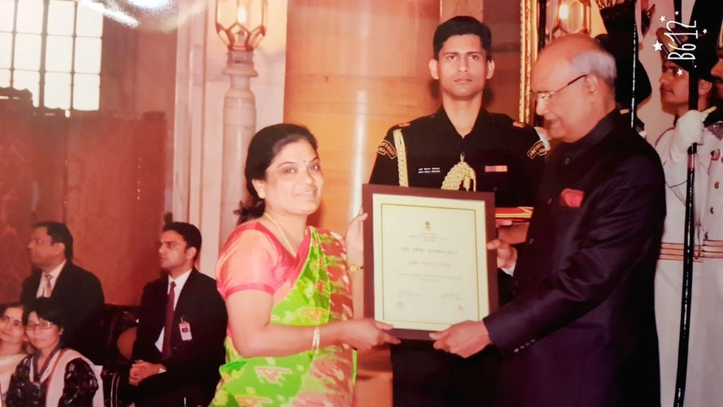 Credited with impacting the lives of some 5,000 sex workers, Telangana's Jayamma Bhandari  received the Nari Shakti (Women Power) Award on International Women's Day from the President