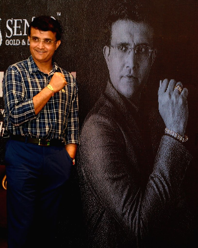 Cricket Association of Bengal (CAB) President Sourav Ganguly during a promotional programme in Kolkata on Aug 2, 2019. - Sourav Ganguly