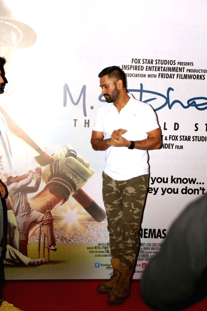 Cricket player Mahendra Singh Dhoni during the promotion of film M S Dhoni in Mumbai on Sept. 30, 2016. - Mahendra Singh Dhoni