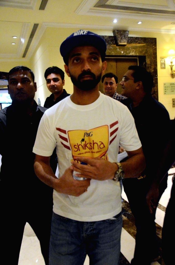 Cricketer Ajinkya Rahane during a promotional programme in Mumbai on June 28, 2016.