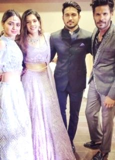 Cricketer Manish Pandey and actress Ashrita Shetty on Thursday hosted a wedding reception for close friends and relatives here. The two had exchanged vows in a glittering ceremony in the city on December 2, just hours after Manish led from the front  - Ashrita Shetty and Manish Pandey
