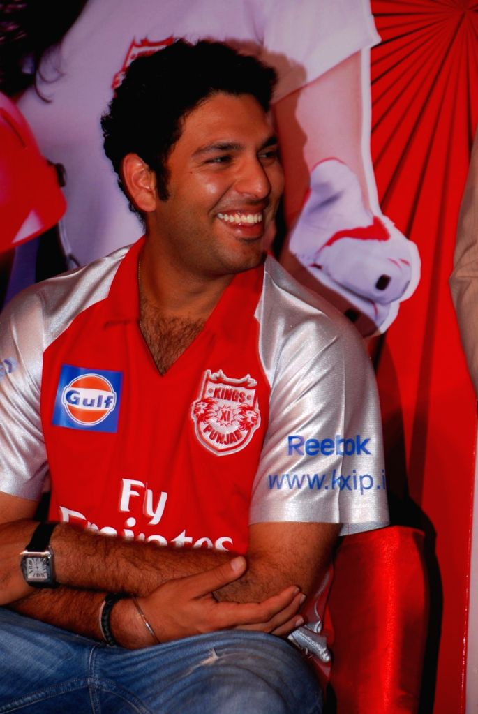 Cricketer Yuvraj Singh at IPL press meet.
