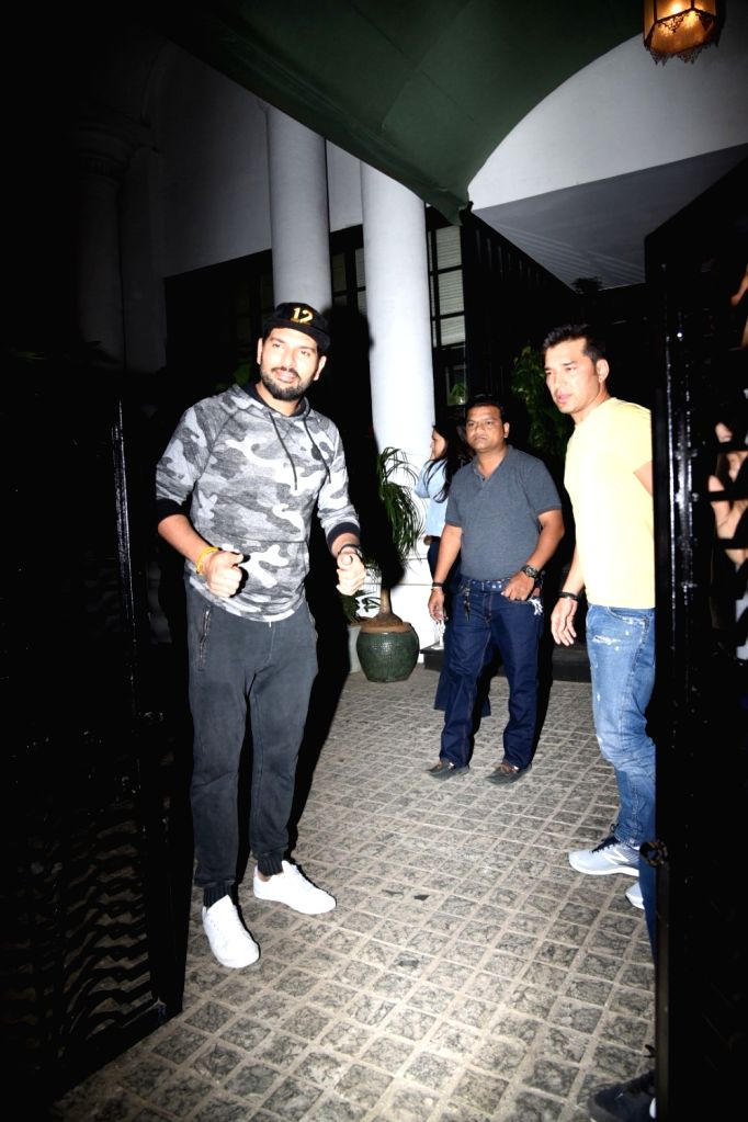 Cricketer Yuvraj Singh seen at a club in Mumbai's Juhu, on Feb 6, 2019. - Yuvraj Singh