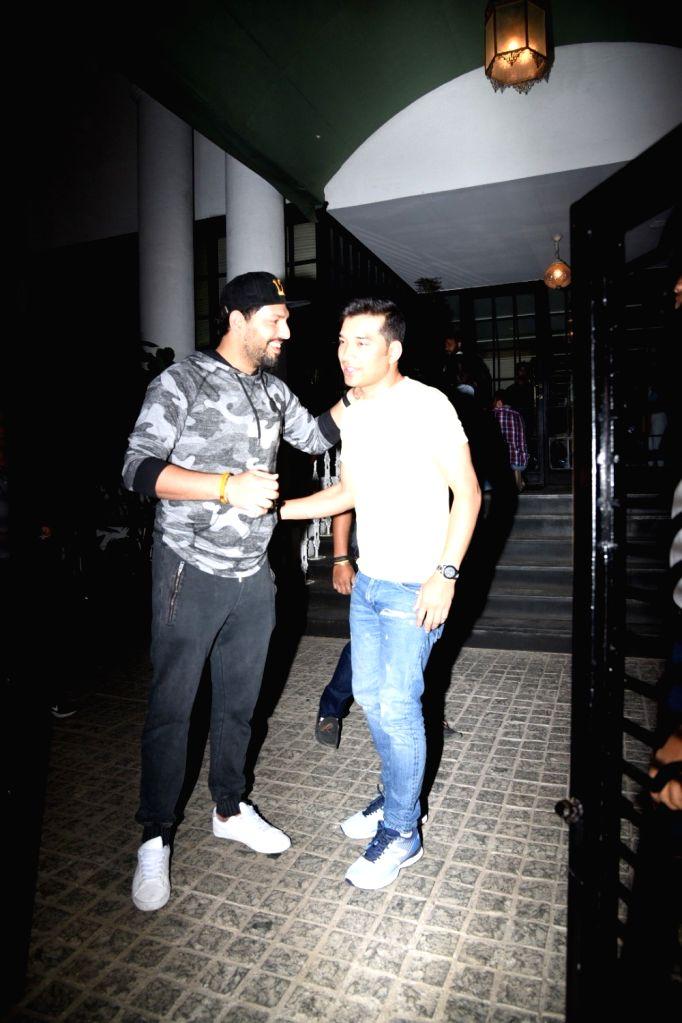 Cricketer Yuvraj Singh seen at a Mumbai Club on Feb 6, 2019. - Yuvraj Singh