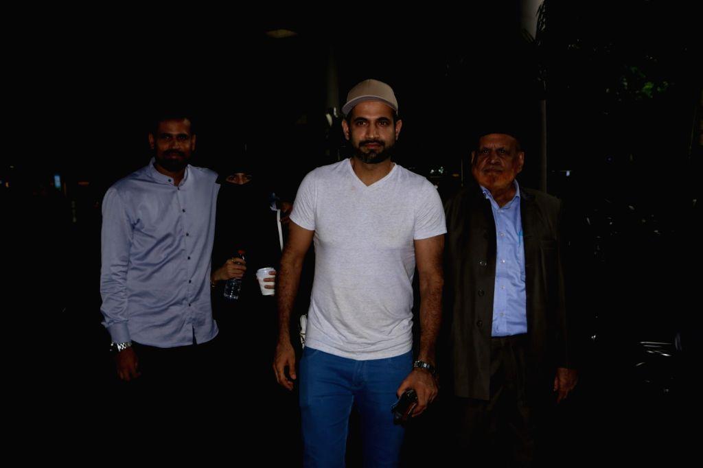 Cricketers Yusuf Pathan and Irfan Pathan at Mumbai Airport on June 29, 2017.