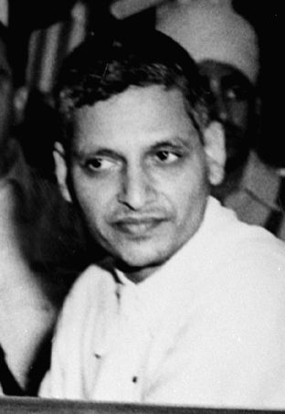 Cropped version of a Photograph of Nathuram Godse taken during M.K.Gandhi's murder trial. (Photo: Govt. of India) - Nathuram Godse