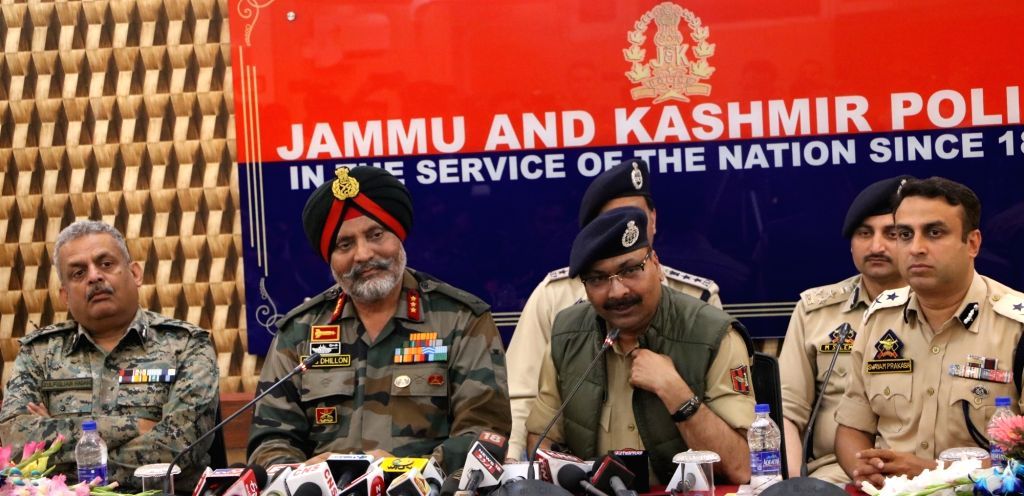 CRPF Inspector General (IG) Zulfiqar Hasan, Srinagar-based 15 Corps, Lieutenant General and General Officer Commanding (GOC) KJS Dhillon, Jammu and Kashmir Director General Police Dilbagh ... - Police Dilbagh Singh