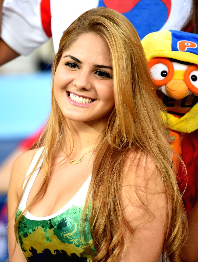 A Russia's fan is seen before a Group H match between Russia and Korea Republic of 2014 FIFA World Cup at the Arena Pantanal Stadium in Cuiaba, Brazil, June 17, ...