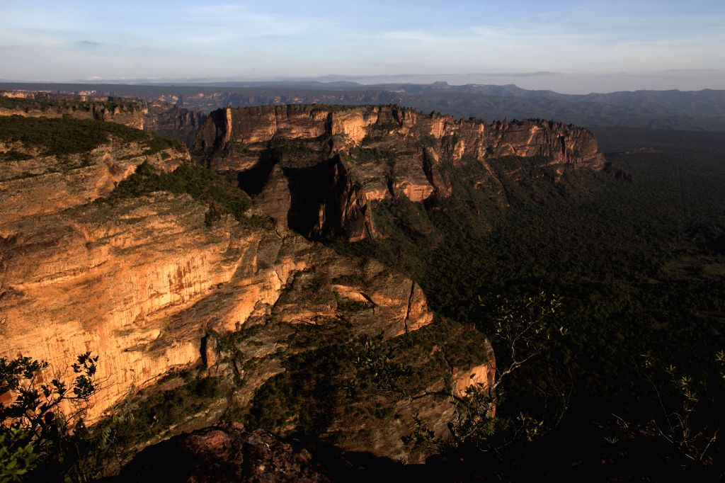 General view of the Chapada dos Guimaraes National Park, about 60 kilometers from Cuiaba, capital of the State of Mato Grosso, Brazil, on June 20, 2014. Cuiaba is ...