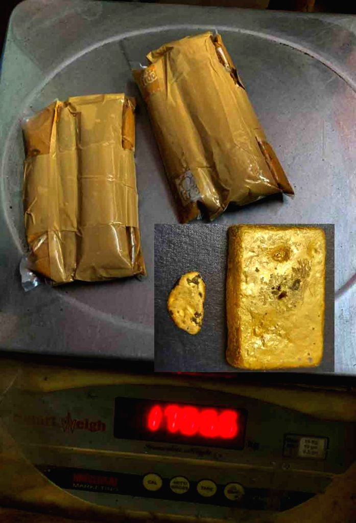 Customs authorities seized 1593 grams of gold valued at Rs.74.87 lakh from a woman passenger at the RGI Airport early on Wednesday 03rd March, 2021.