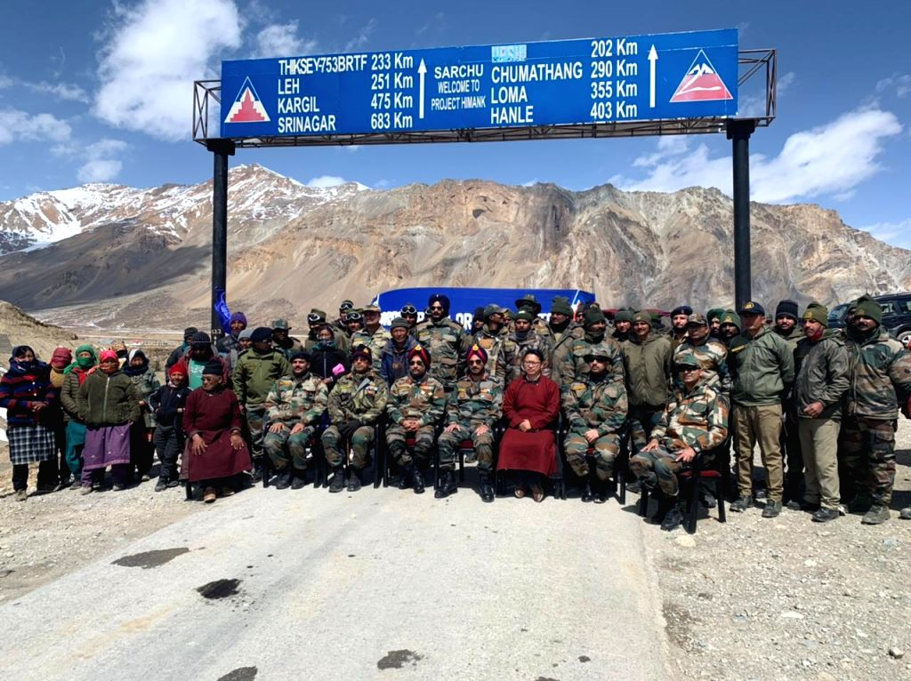 Cutting mountains of snow, BRO links Manali-Leh axis in record time.