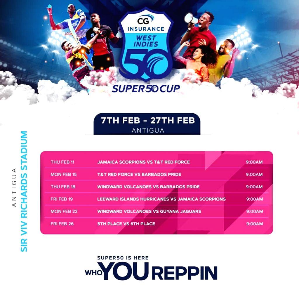 CWI announces schedule for regional Super50 Cup tournament.(photo:twitter)