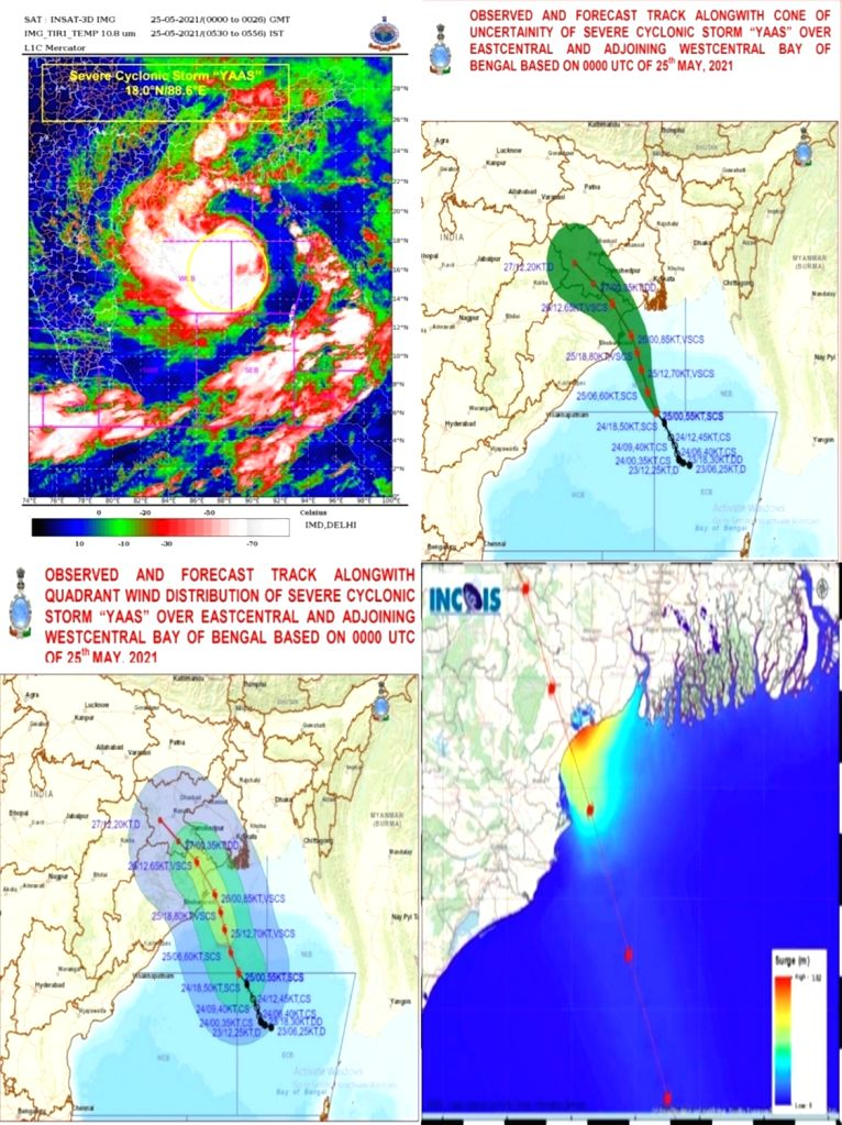 Cycone Yaas over east central, adjoining west central Bay of Bengal.