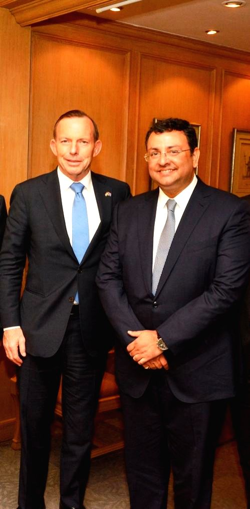 Cyrus P Mistry, Chairman of Tata Sons with Australian Prime Minister Tony Abbott during a meeting in Mumbai on Sept 4, 2014. - Tony Abbott