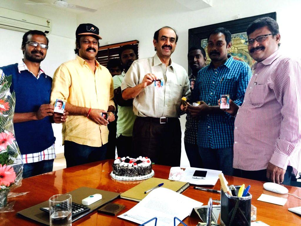 D Suresh Babu Birthday Celebrations Photos with fans.