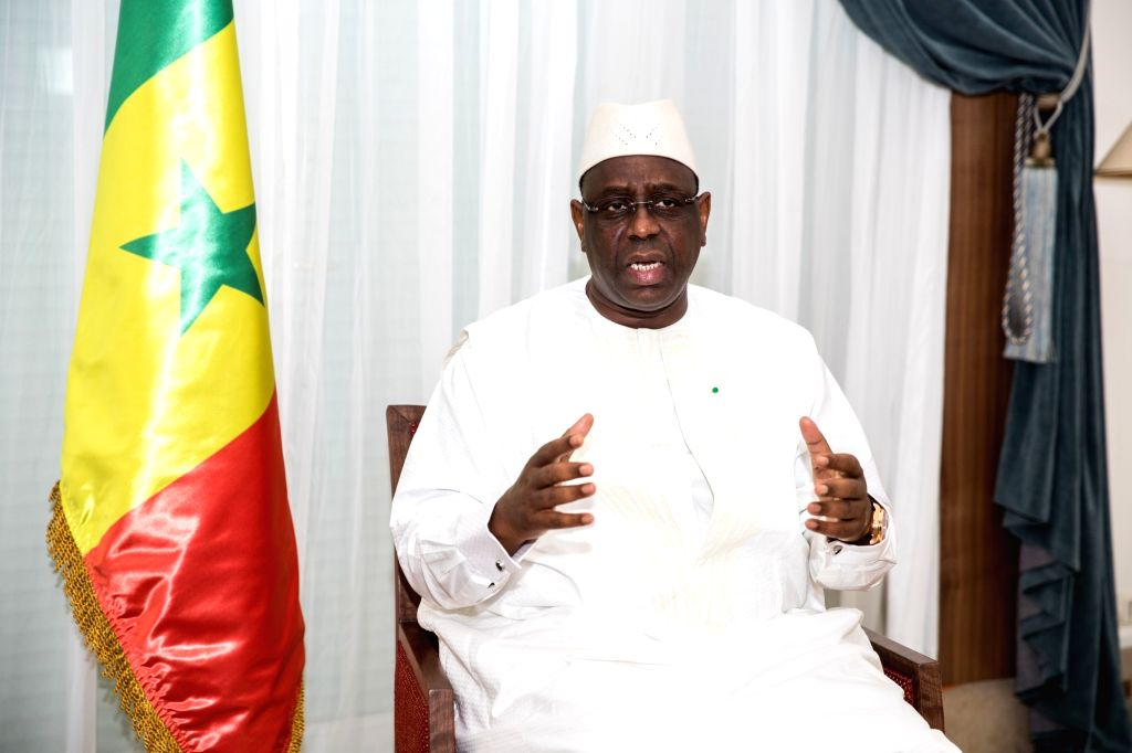 DAKAR, July 20, 2018 - Senegalese President Macky Sall speaks during an interview in Dakar, Senegal, on July 19, 2018. Chinese President Xi Jinping's upcoming state visit to Senegal will be a ...
