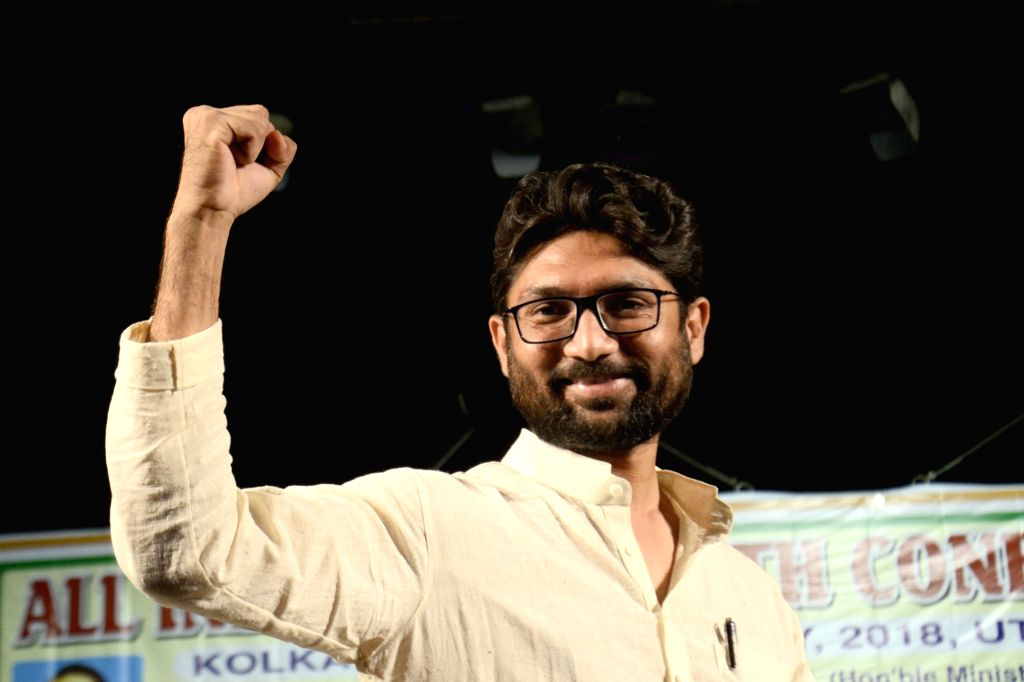 Dalit leader Jignesh Mewani during the All India Dalit Youth Conference, in Kolkata on May 31, 2018.