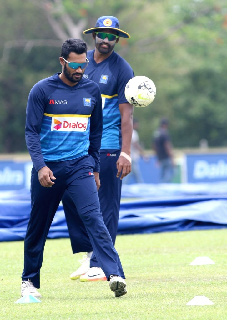 Dambulla: Sri Lankan cricketer Chamara Kapugedera during a practice session ahead of the first one-day international cricket match against India in Dambulla, Sri Lanka on Aug 19, 2017.