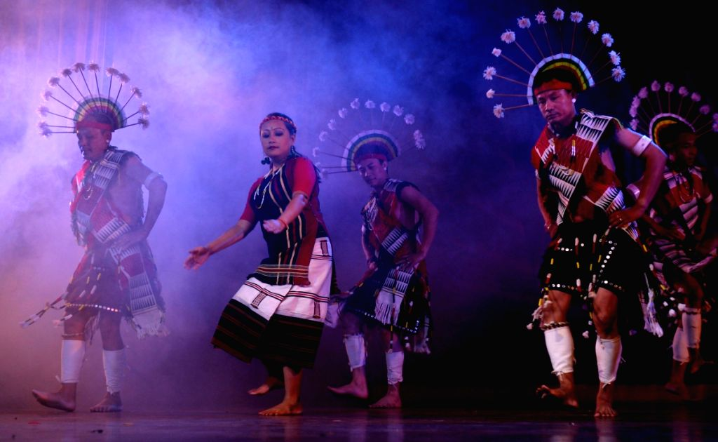 Dance performance at the Festival of Traditional Dance and Music of North-East India orginzed by Indian Council for Culture Relations, in New Delhi on Teusday.