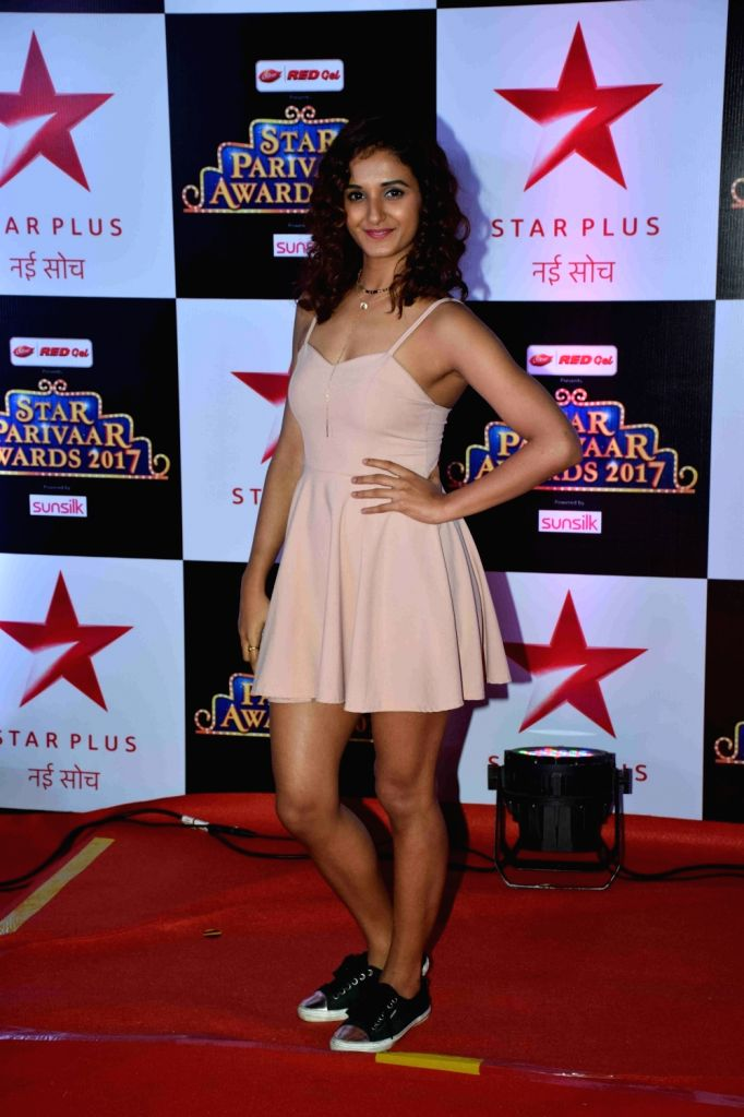 Dancer Shakti Mohan during the red carpet of Star Parivaar Awards 2017 in Mumbai on May 13, 2017.