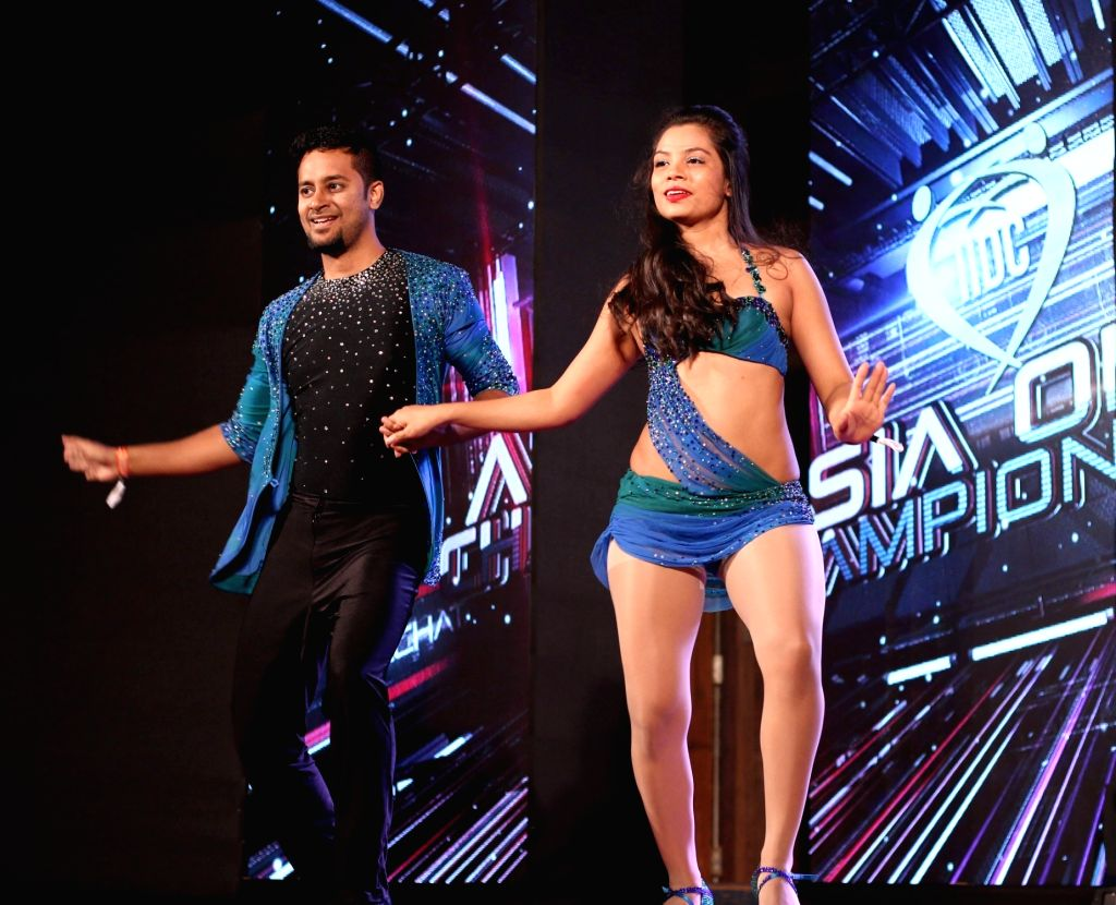 Dancers perform during India International Dance Congress 2017 in Bengaluru on July 6, 2017.