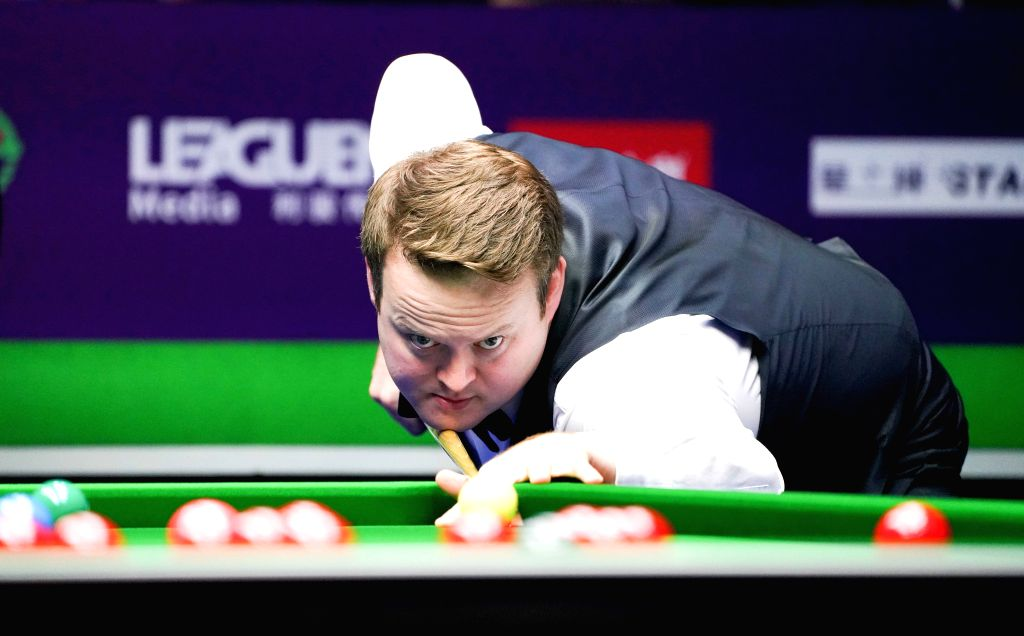 DAQING, Aug. 10, 2019 - Shaun Murphy of England competes during the semifinal against Mark Allen of Northern Ireland at 2019 World Snooker International Championship in Daqing, northeast China's ...